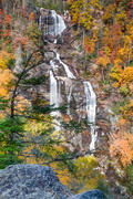 Whitewater Falls Vertical Autumn