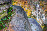 Whitewater Falls Horiz Autumn