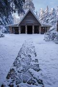 Faith Memorial Chapel in Snow