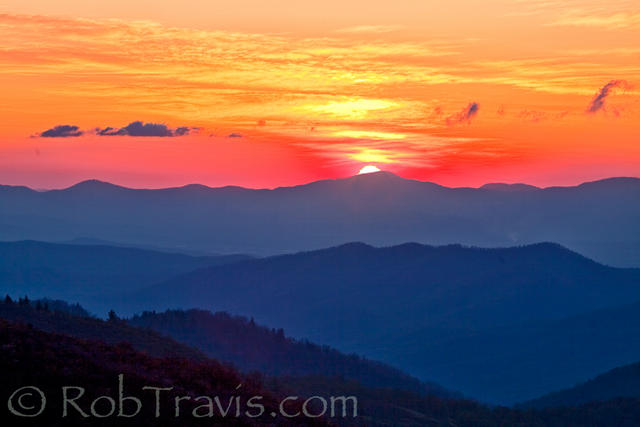 Sunrise on the Blue Ridge Parkway in NC!