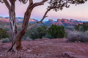 Dusk at Red Rock Crossing  in Sedona, AZ