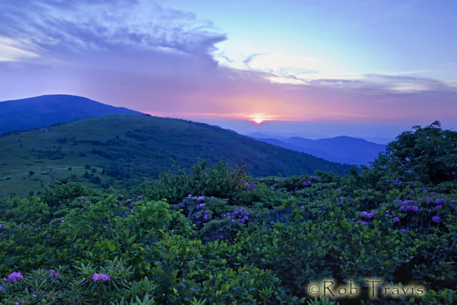 Sunset on Jane Bald