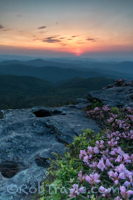 Before Sunrise, Hawksbill Mountain. Linville Gorge