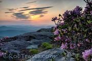 When Clouds meet Sun, Horizontal, Hawksbill Mountain. Linville Gorge
