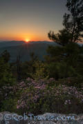 Sunset, When Clouds meet Sun, Table Rock Mountain. Linville Gorge
