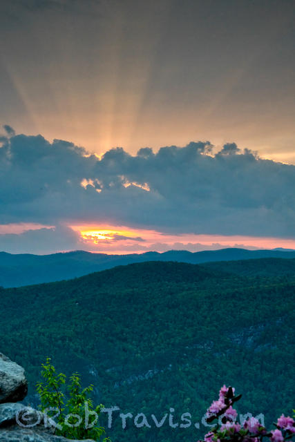 Sunset, Little Table Rock, Linville Gorge
