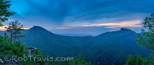 Dawn at Wiseman's View; Linville Gorge