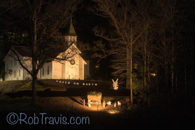 Nativity at Church in Brevard, NC - Horizontal