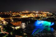 American Falls at night from Skylon Tower