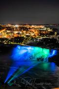 American Falls at night from Skylon Tower Ver