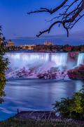 American Falls, Twilight View through Trees _DSC0570