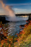 Horseshoe Falls, Pink Morning Plume with Sumac _DSC0691