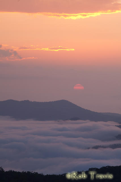 Sea of Clouds at Sunrise.