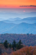 Sunset in Autumn on the Blue Ridge Parkway