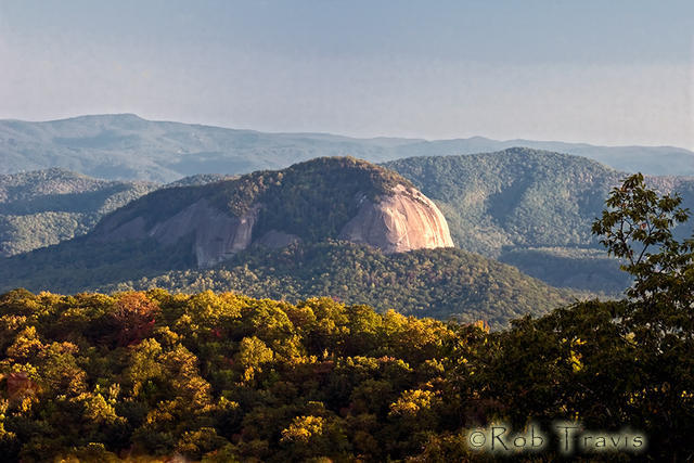 Looking Glass Rock in Fall