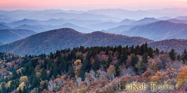 Blue Ridge Layers in the Autumn Evening