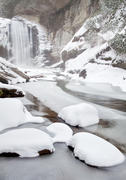 Looking Glass Falls in Winter