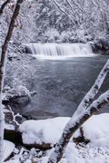 Hooker Falls in Winter. DuPont State Forest