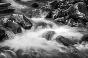 Cascade in Black and White, Jones Gap State Park in SC