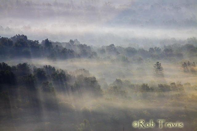 Mountain Light through Fog