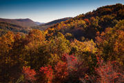 Autumn View from Glass Feather, Cedar Mountain, NC.