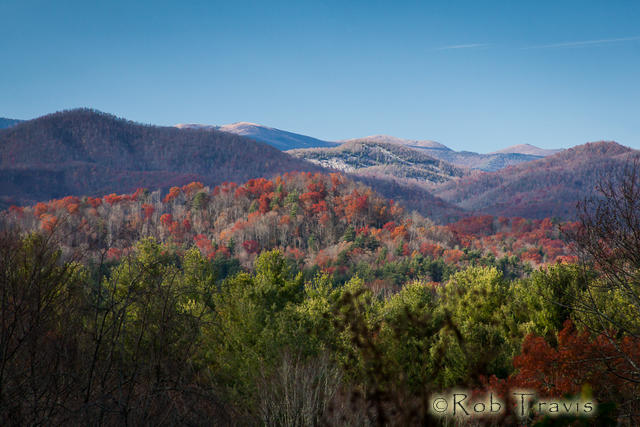 Late Afternoon in the Blue Ridge Mountains.