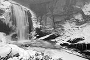 Looking Glass Falls in winter - Pisgah National Forest
