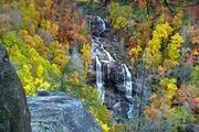 Whitewater Falls - Autumn Panorama