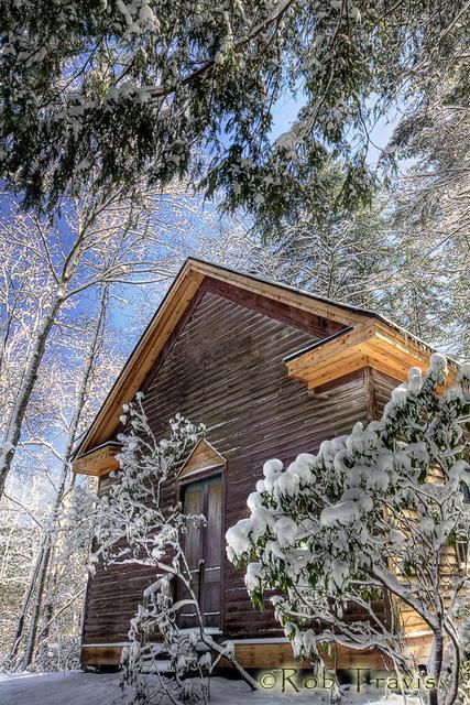 McGaha Chapel in Snow