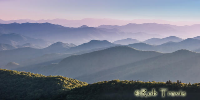 Interplay of Light and Landscape, Cowee Mountain Overlook