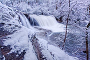 Hooker Falls in Winter 2