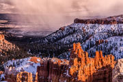 Winter Storm in Snowy Bryce Canyon