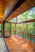 View of Living Room through open feature doors