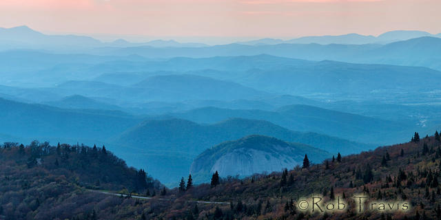 Looking Glass Rock at Dawn - Panorama